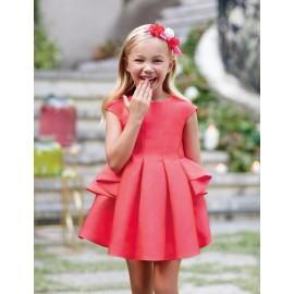 Abel & Lula 5035-2 Dívčí šaty červená barva