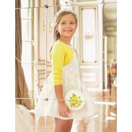 Abel & Lula 5042-1 Dívčí šaty barva bílá