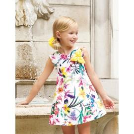 Abel & Lula 5045-6 Dívčí šaty barva žlutý