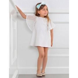 Abel & Lula 5046-1 Dívčí šaty barva bílá