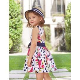 Abel & Lula 5049-3 Dívčí šaty barevně tmavě modré