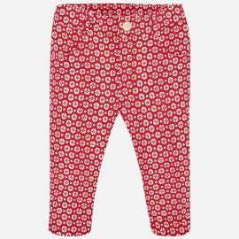 Mayoral 2578-37 Dívčí kalhoty barva červená