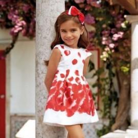Mayoral 3918-37 Šaty holčičí barva červená