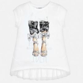 Mayoral 6009-29 Dívčí tričko barvy stříbrné