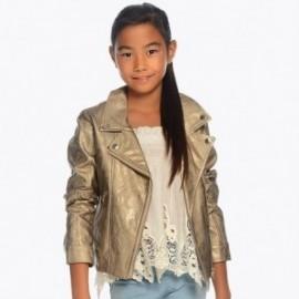 Mayoral 6410-41 Dívčí bunda zlatá barva