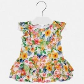 Mayoral 1940-6 Dívčí šaty geranium barva