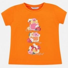 Mayoral 3015-61 Dívčí košile barva mandarinka