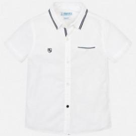 Mayoral 3129-68 košile chlapci hladký barva bílá