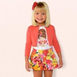 Mayoral 3203-45 Dívčí šortky korálové barvy