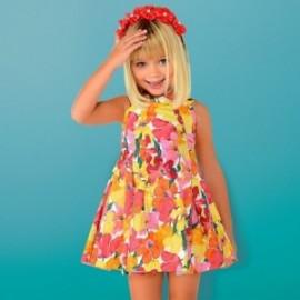 Mayoral 3925-45 Dívčí šaty korálové barvy