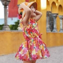 Mayoral 3929-45 Dívčí šaty korálové barvy