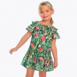 Mayoral 3952-33 Dívčí šaty zelené barvy