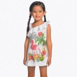 Mayoral 3953-27 Dívčí šaty barvy bílé