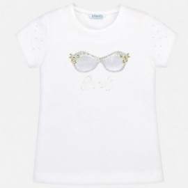 Mayoral 6003-14 Dívčí košilka barva bílá