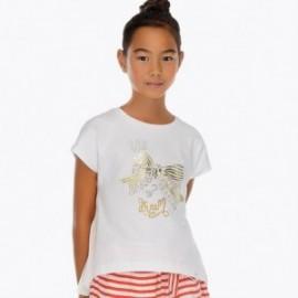 Mayoral 6004-10 Dívčí tričko barva bílá