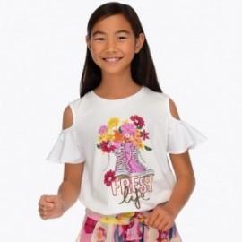 Mayoral 6006-33 Dívčí tričko bílé barvy
