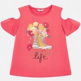 Mayoral 6006-34 Dívčí triko korálové barvy