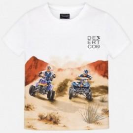 Mayoral 6035-75 Chlapčenské tričko bílé barvy