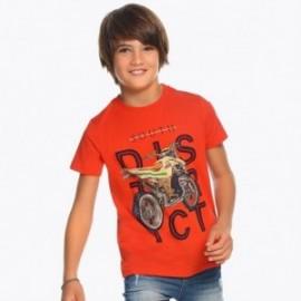 Mayoral 6049-64 tričko chlapci červená barva