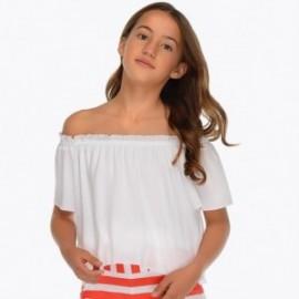 Mayoral 6102-64 Volná blůza dívčí bílá
