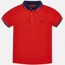 Mayoral 6119-42 Polo chlapci červená barva