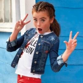 Mayoral 6409-33 Dívčí bunda barva džíny