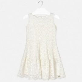 Mayoral 6912-70 Dívčí šaty barva krém