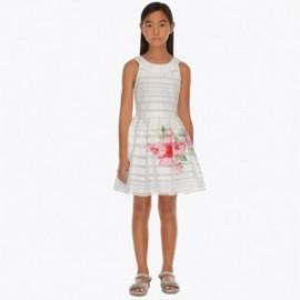 Mayoral 6914-55 Šaty holčičí barva bílá