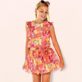 Mayoral 6925-25 Dívčí šaty korálové barvy