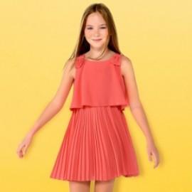 Mayoral 6930-80 Dívčí šaty korálové barvy