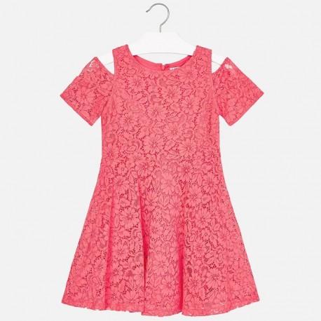 Mayoral 6933-51 Dívčí šaty korálové barvy