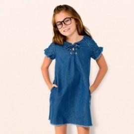Mayoral 6942-5 Dívčí šaty džínové barvy
