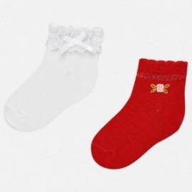 Mayoral 10530-58 Sada ponožek dívky barva červená