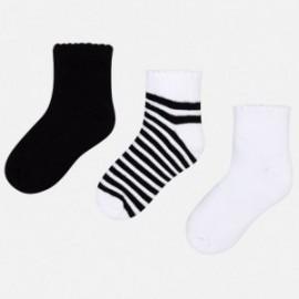 Mayoral 10579-36 Sada ponožek dívky barva černá