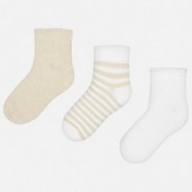 Mayoral 10579-37 Sada ponožek dívky barva písek