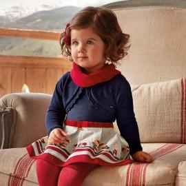 Mayoral 2938-10 Dívčí šaty barvy tmavě modré