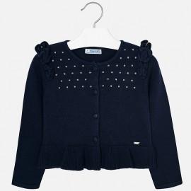 Mayoral 4328-42 svetr pro dívky barva námořnictva