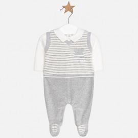 Mayoral 2602-34 Baby pajacyk pro chlapa šedou barvu