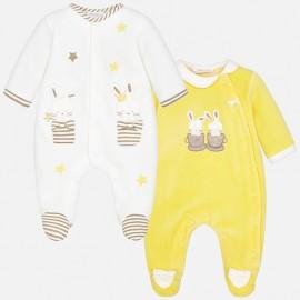 Mayoral 2748-24 dívčí pyžamo 2 ks barva žlutý