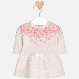 Mayoral 2804-4 Dětské šaty krémová barva
