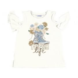 Mayoral 6006-35 Dívčí tričko s barevným krémem