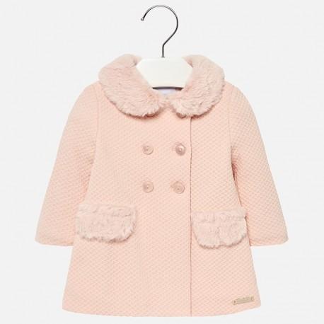 Mayoral 2482-56 Dívčí kabát barva růžový