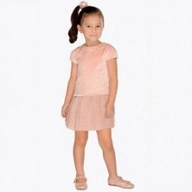 Mayoral 4940-78 Dívčí šaty barvy nahé