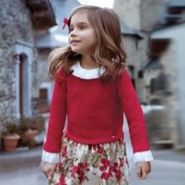 Mayoral 4946-70 Dívčí šaty červené