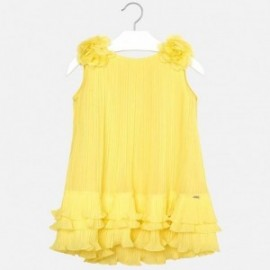 Mayoral 3926-61 Pletené šaty dívčí žlutá