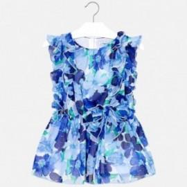 Mayoral 3929-46 Dívčí modré šaty