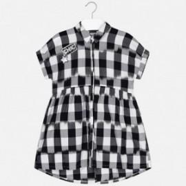 Mayoral 6938-26 Dívčí šaty v koberečku černá