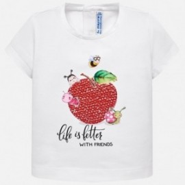 Mayoral 1014-13 Bílé dívčí tričko