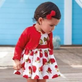 Mayoral 1934-71 Dívčí šaty červené
