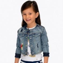 Mayoral 3408-50 Dívčí modrá džínová bunda